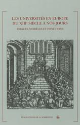 Les universités en Europe du xiiie siècle à nos jours