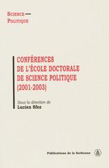 Conférences de l'École doctorale de Science politique (2001-2003)
