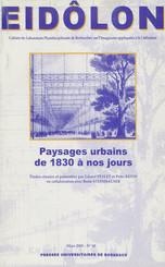 Paysages urbains de 1830 à nos jours