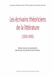 Les écrivains théoriciens de la littérature
