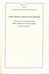 Recent Trends in Narratological Research