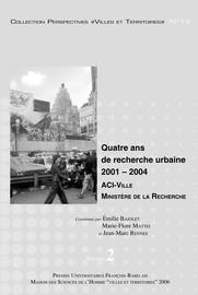 Ville et durabilité: questions pour la recherche, questions à la recherche
