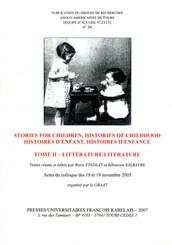 Stories For Children, Histories of Childhood. Volume II