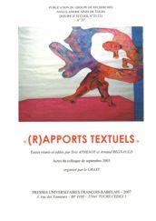 (R)apports textuels