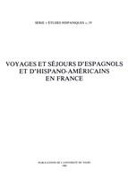Voyages et séjours d'Espagnols et d'Hispano-Américains en France