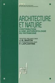 Architecture, nature et paysage