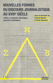 Diffusion du courrier des lecteurs dans la presse régionale française: l'exemple des «affiches»1