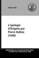 L'apologie d'Origène par Pierre Halloix (1648)