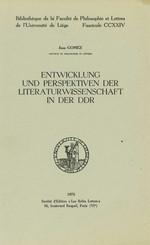 Entwicklung und Perspektiven der Literaturwissenschaft in der DDR