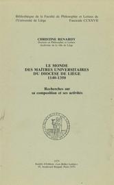 Chapitre premier. Le maître et son milieu 1200-1350