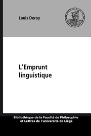 L'Emprunt linguistique