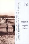 Sociologie de la littérature: la question de l'illégitime