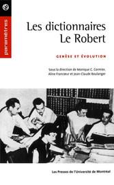 Les Dictionnaires Le Robert Bibliographie Presses De L Université De Montréal