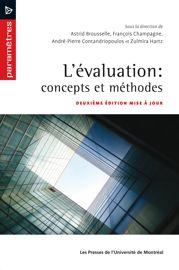 L'évaluation : concepts et méthodes