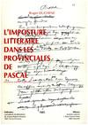 L'imposture littéraire dans les Provinciales de Pascal