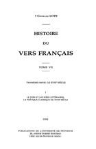 Histoire du vers français. Tome III