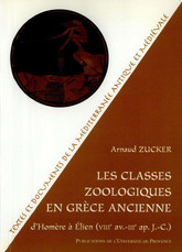 Les classes zoologiques en Grèce ancienne