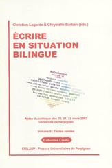 Écrire en situation bilingue-VolumeII