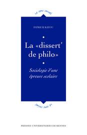 La «dissert' de philo»