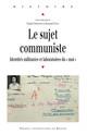 Le sujet communiste