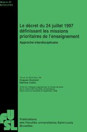 Point de vue du Conseil des pouvoirs organisateurs de l'enseignement officiel neutre subventionné (CPEONS)