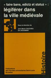 Souveraineté de l'évêque et législation municipale dans la principauté épiscopale de Lausanne à la fin du Moyen Âge