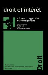 Droit et intérêt - vol. 1