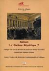 Demain, la sixième République ?