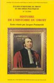 Histoire de l'histoire du droit