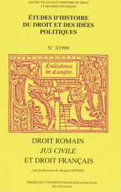Droit romain, jus civile et droit français