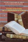 Études d'histoire de la profession d'avocat