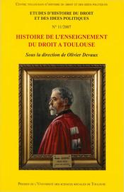 L'Enseignement du droit canonique au sein de la faculté de droit de Toulouse de1679 à1793