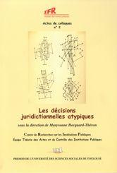 Les décisions juridictionnelles atypiques