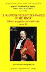 Les Facultés de droit de province au xixe siècle. Tome2
