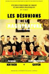 Les désunions de la magistrature