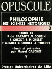 Philosophie des sciences historiques