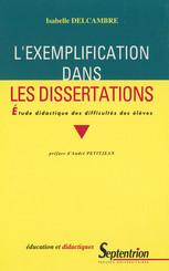 L'exemplification dans les dissertations
