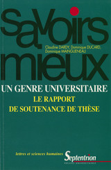 Un genre universitaire : le rapport de soutenance de thèse
