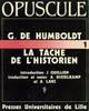 G. de Humboldt. La tâche de l'historien