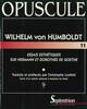 Essais esthétiques sur Hermann et Dorothée de Goethe