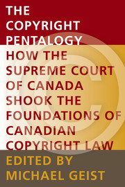 1. Of Reasonableness, Fairness and the Public Interest: Judicial Review of Copyright Board Decisions in Canada's Copyright Pentalogy